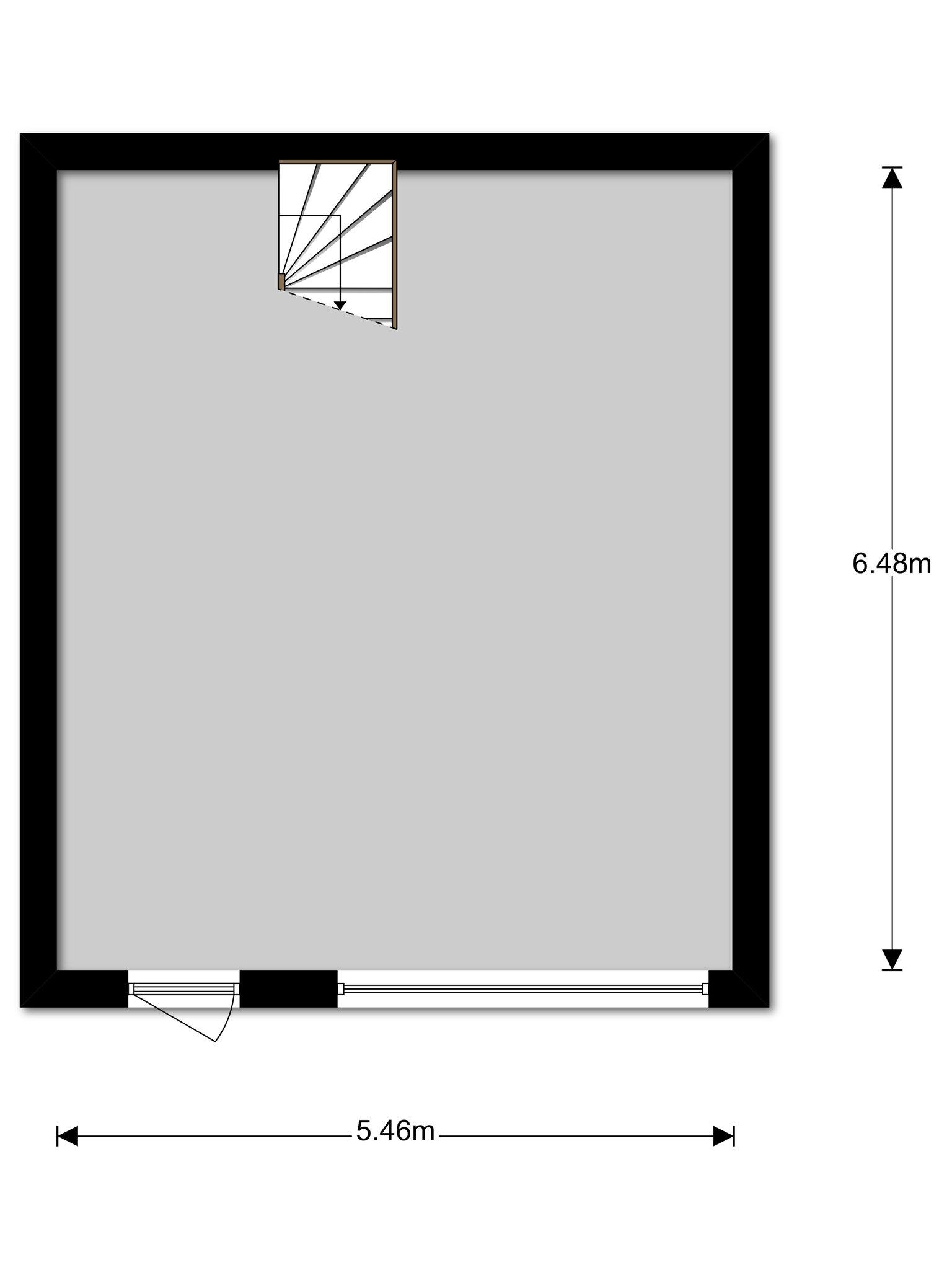 Plattegrond van Stoffels 126